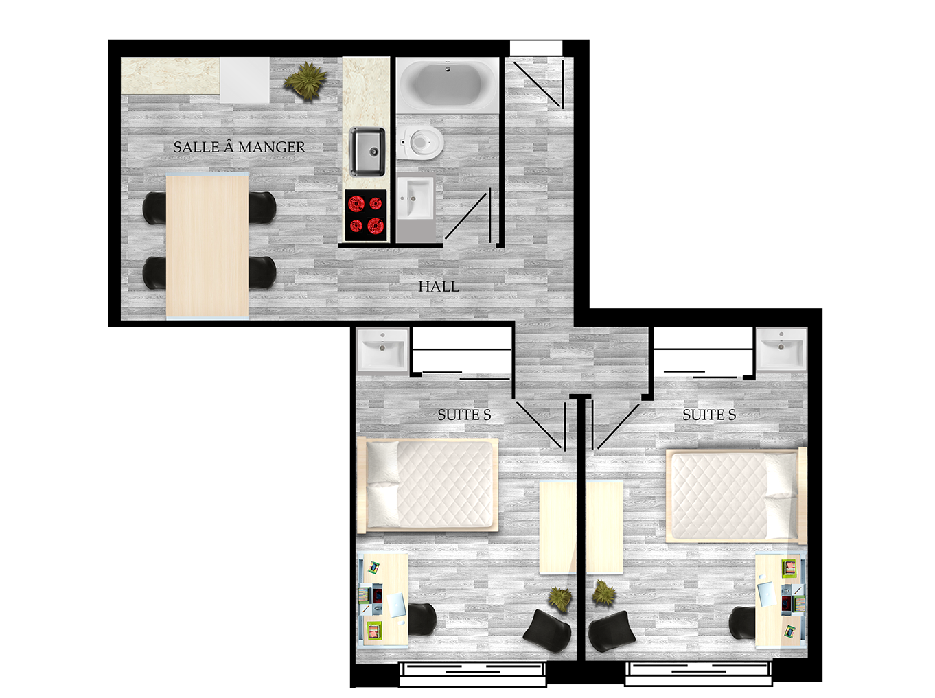 Shared student apartment