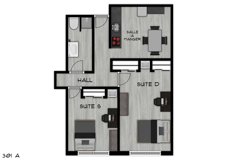 Chambre à louer pour étudiants en colocation